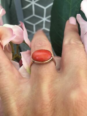 £250 • Buy 9ct Gold Antique Coral Ring