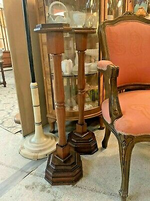 AU850 • Buy Pair Of Louis XV Tall Brass & Marble Pedestal Tables