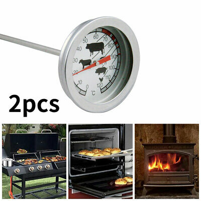 £7.96 • Buy BBQ Meat Poultry Food Thermometer Oven Temperature Cooking Probe Stainless Steel