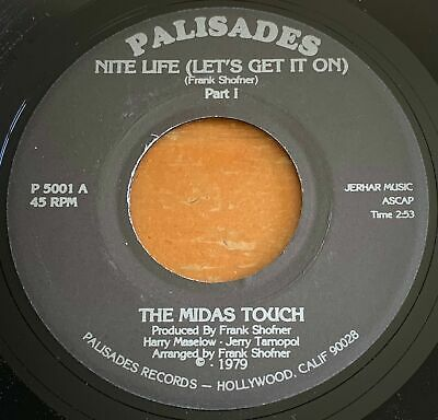 £9.29 • Buy The Midas Touch -Nite Life- Disco Funk 45 On Palisades - Hear