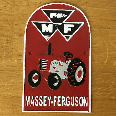 £18.95 • Buy Massey Ferguson Tractor Sign Large Cast Iron Repro Advertising Plaque *One Only*