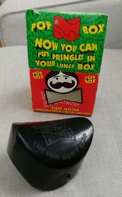 £11.50 • Buy 1990's Limited First Edition Pringles Pop Box Lunch Box Original Bow Tie Box