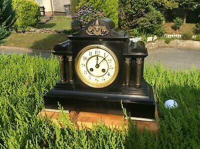£250 • Buy Victorian French Mantel Clock Black Slate By Marti Et Cie Paris Working Well1889