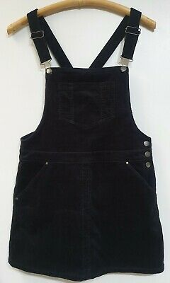 AU20 • Buy Forever New Black Cord Pinafore Dress, Sz 10 Worn Once