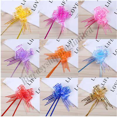£3.99 • Buy 50mm Large Organza Ribbon Pull Bows Various Colours Wedding/party/giftwrap