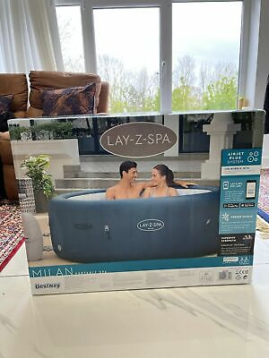£714 • Buy ✅Lay-Z-Spa Milan Hot Tub 🏝 6 Person 2021 Version-WIFI✅BRAND NEW *Free Delivery*