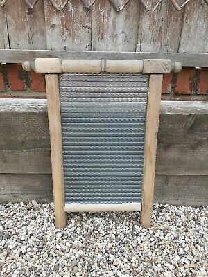 £30 • Buy Vintage Pine Framed With Ribbed Glass Washboard