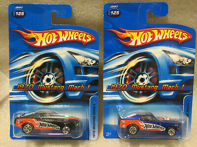 $5.45 • Buy Hot Wheels 70 Ford Mustang Mach 1 Lot Of 2 - 2005 Hot Wheels Color Variation