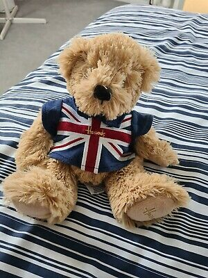 £0.99 • Buy Harrods Teddy Bear. Plush, Soft Toy. Union Jack T-shirt. Red, White And Blue.