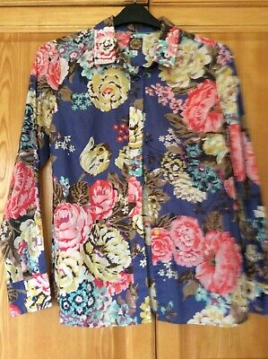 £4.99 • Buy Joules Soft Cotton Maywell Floral Blouse Shirt 12