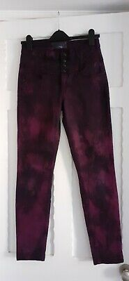£6 • Buy Purple Tie-dyed High Waist, Slim Fit Jeans Size 10