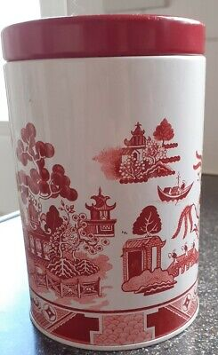 £4.99 • Buy Vintage Pink Willow Pattern ~ Batger Of Hull ~ Empty Toffee Sweet Storage Tin