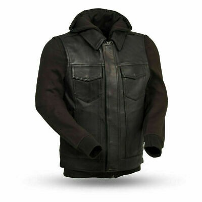 $169.99 • Buy FMC Men's Leather Motorcycle Vest W/ Hoody ( Size Large ) FIM697CDDH - KENT