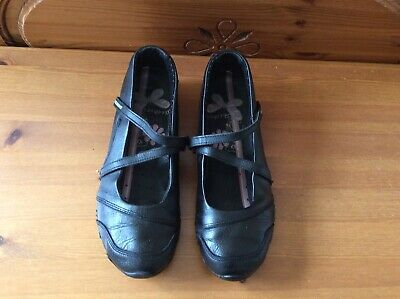 £6 • Buy Sketchers Mary Jane Black Leather Ladies Trainers Shoes Size 5(38) ...