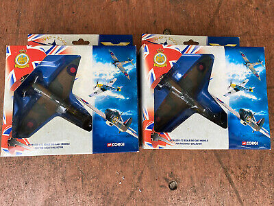 £20 • Buy Corgi Aviation Archive Spitfire And Hurricane 1:72 Scale Die Cast Models