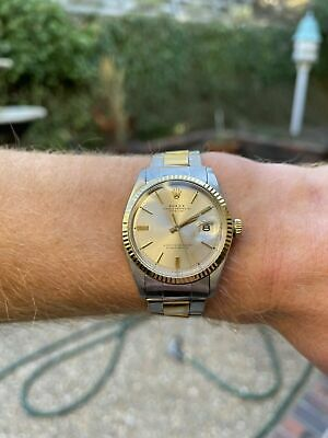 $ CDN1290.32 • Buy Rolex Datejust Mens Two-Tone Stainless Steel & Yellow Gold Champagne 1601
