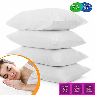 £9.99 • Buy Pack Of 4 Deluxe Pillows Super Bounce Back HollowFibre Filled Pillows (OFFER)