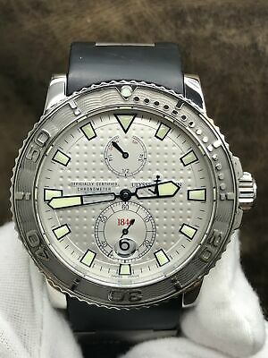 £2664.22 • Buy Ulysse Nardin Maxi Marine Diver 263-33 Silver (Waffle Design) Dial Automatic  Me