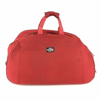 £72.68 • Buy The North Face Rolling Carry On Duffle Luggage Bag Red 24x16x15