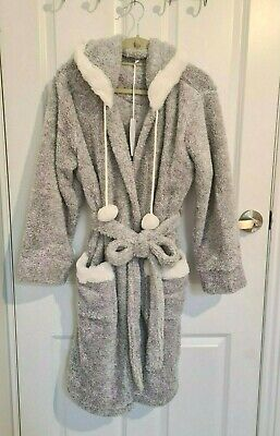 AU35.50 • Buy Brand NEW SUSSAN Grey Fluffy Hooded Dressing Gown . Size S