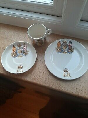 £5 • Buy Coronation June 2nd 1953 Tea Cup  Saucer And Side Plate