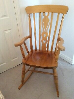 £39 • Buy Traditional Antique Style Solid Wood,, Farmhouse Style, Nursery, Rocking Chair
