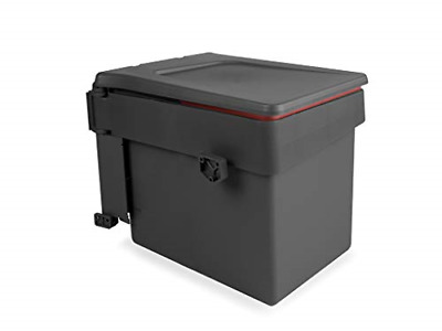 £19.62 • Buy Emuca 8935423 Built-in Waste Bin For Cabinet With Automatic Lid, Anthracite 15