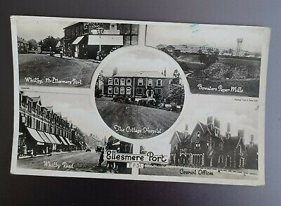 £0.99 • Buy Ellesmere Port, Cheshire. Black And White Multiview Postcard. 1944.