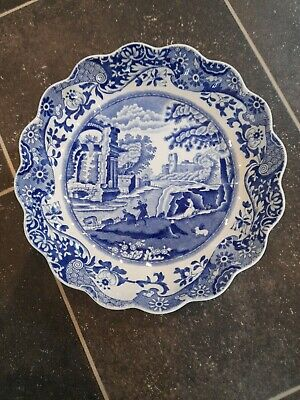 £20 • Buy Spode Blue Italian Small Shallow Fluted Scalloped Bowl/ Dish
