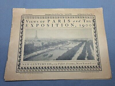 £0.99 • Buy Paris Exhibition 1900 - Views Of Paris And The Exhibition - Weekly Booklet -