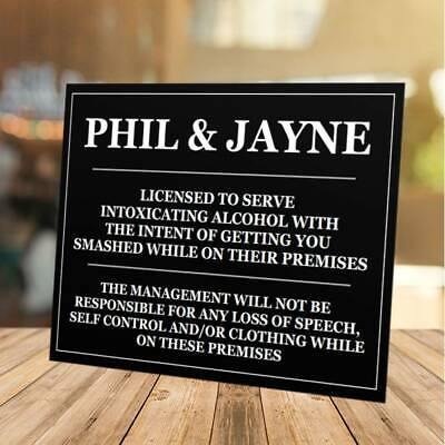 £5.99 • Buy Funny Personalised Bar Sign, Metal Tin Sign/plaque Man Cave Shed Garage Home Pub