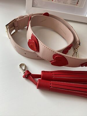 $ CDN51.93 • Buy Kate Spade 116cm Long Shoulder Strap Love Hearts & Charm Limited Collection New