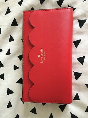£35 • Buy Stunning Kate Spade Red And Pink Scalloped Edge Purse/wallet