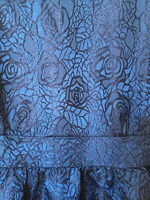 £1.20 • Buy New Look Blue Summer Dress Knee Length Jacquard Floral New Without Tags