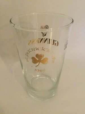 £0.99 • Buy Rare Guinness St Patrick's Night 1989 Vintage Beer Glass Used Condition