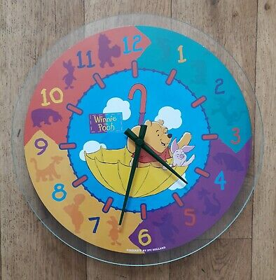 £16.99 • Buy Winnie The Pooh Quartz Wall Clock Large Round Tested And Working Children's Room