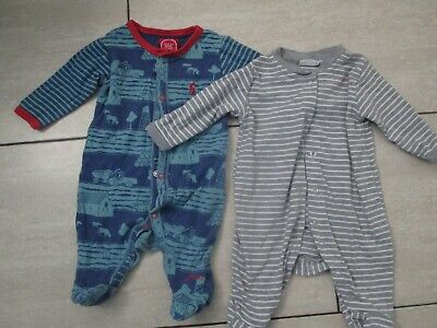 £7 • Buy BABY BOYS SLEEPSUITS/BODYSUITS X 2 - AGE 0-3 MONTHS - FROM JOULES/JO JO MAMAN