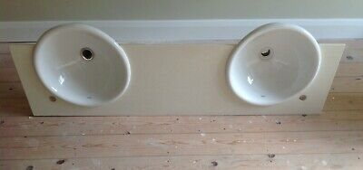 £30 • Buy Roca Double Basin Setup With Stone Resin Counter Top.