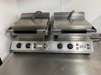 £95 • Buy Double Flat Plate Twin Contact Grill Griddle Panini Commercial