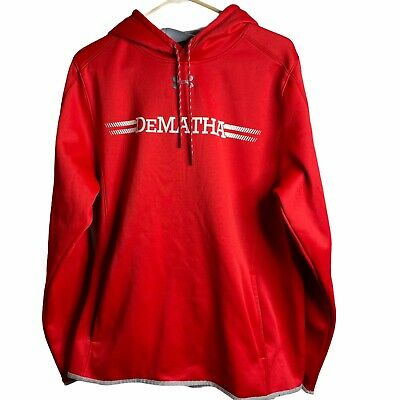 $ CDN28.26 • Buy Under Armour DeMatha ColdGear Hoodie Men's L Red Pullover Loose