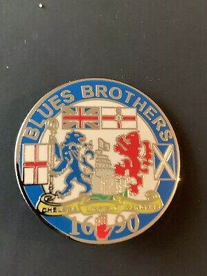 £3 • Buy Chelsea Fc Rangers An Linfield Blues Brothers Pin Badge