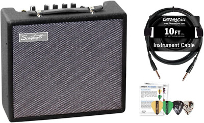 $ CDN83.41 • Buy Sawtooth 10-Watt Electric Guitar Amp With Instrument Cable & Pick Sampler