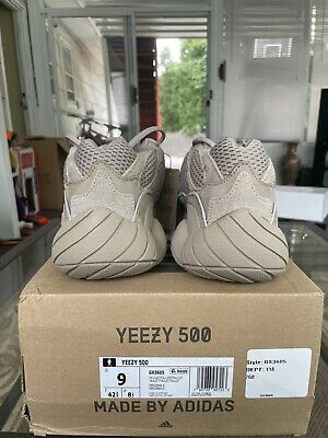 AU340.11 • Buy Adidas Yeezy 500 Taupe Light - Size 9 - New/DS