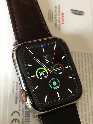 $ CDN619.74 • Buy Apple Watch  Series 4 Stainless Steel Cellular 44mm, Fast Delivery