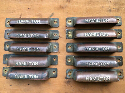 AU16.31 • Buy ONE Hamilton Antique Printers Type Tray Brass And/or Copper HANDLE Pull