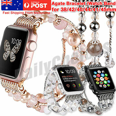 AU11.89 • Buy AU For Apple Watch Series 6 5 4 3 2 1 Stainless Steel Bracelet IWatch Band Strap