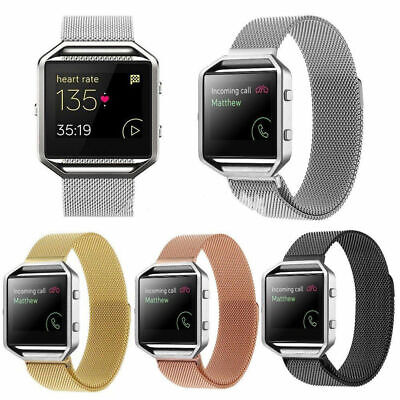 AU8.27 • Buy For Fitbit Blaze Tracker Milanese Magnetic Loop Stainless Steel Wrist Band Strap