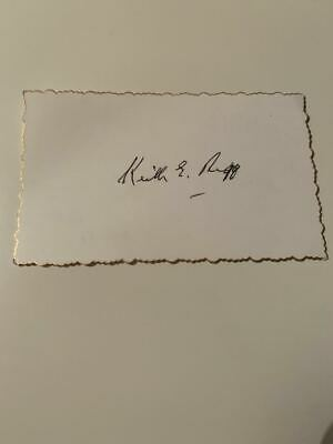 AU25 • Buy Australian Test Cricketer Card SIGNED - Keith Rigg