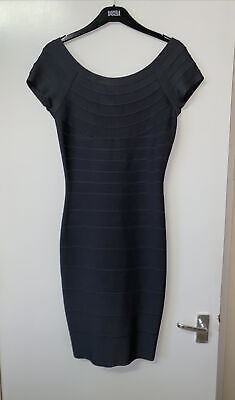 AU102.77 • Buy Herve Leger Charcoal Grey Sexy Bodycon Bandage Pencil Party Summer Dress S 8/10