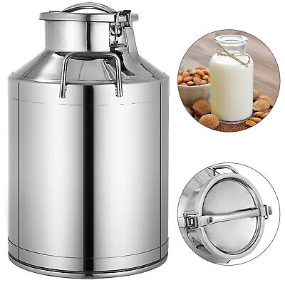 $74.89 • Buy 30L 8 Gallon Milk Cans 304 Stainless Steel Pail Bucket Jug Oil Barrel Canister